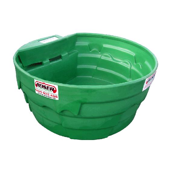 Bac à eau / herbage en plastique PEHD 1500 L