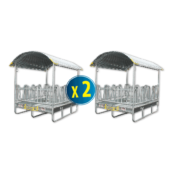 Kit de 2 râteliers à arceaux 2 x 2m 12 places sécurisés