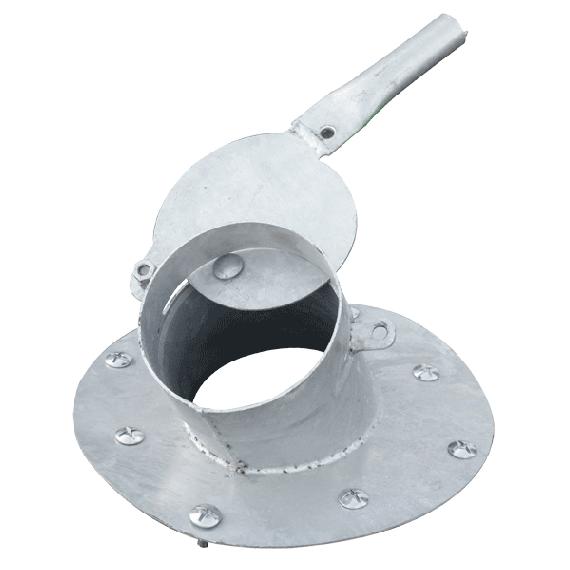 Sortie déportée + 1m de tuyaux (Ø150 mm) pour silo cubique