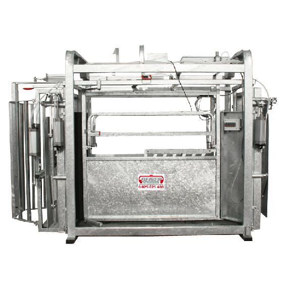 Cage de contention pneumatique avec pesée aérienne