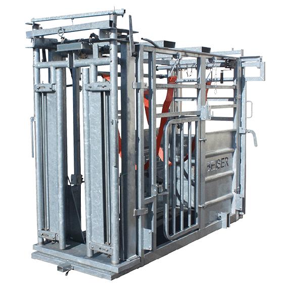 Cage de contention (porte avant autobloquante + porte arrière à ouverture latérale)
