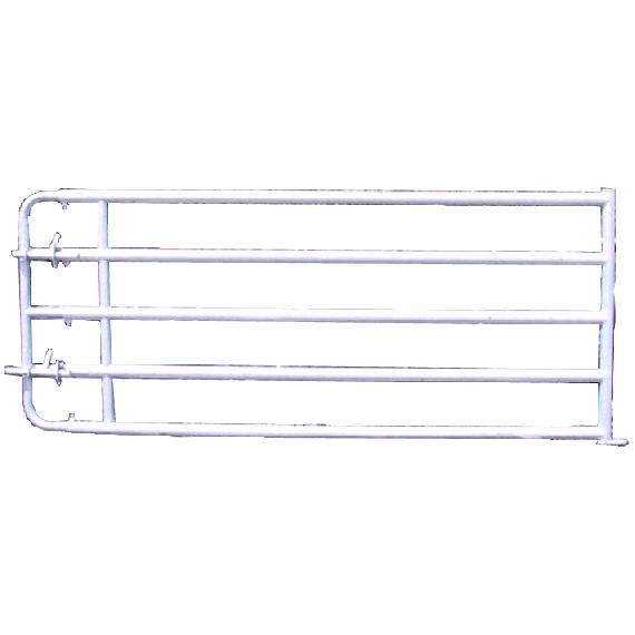 Barrière de stabulation galvanisée 5 lisses 5/6 m avec verrou