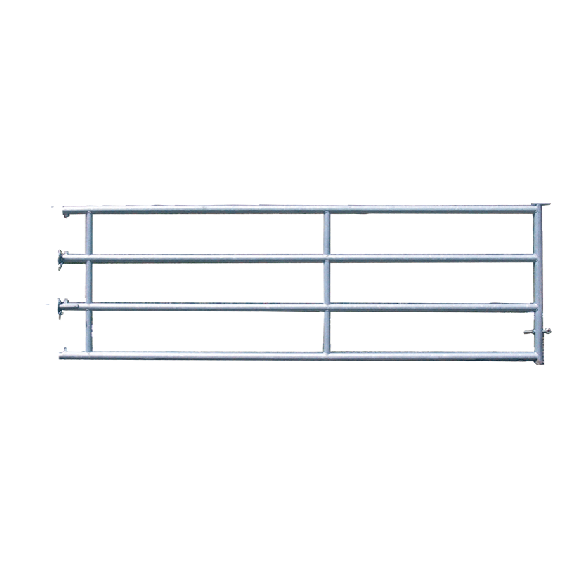 Arrière de barrière de stabulation 4 tubes, 2,50 m (3/4)