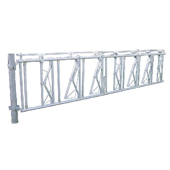 Barrière cornadis avec limiteur de pendaison, 4 m, 5 places