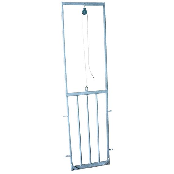 Porte guillotine pour mouton (avec barre verticale)