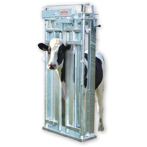 Porte de contention autobloquante à serrage centrale symétrique, réglage rapide de l'encolure- 4 plats de fixation