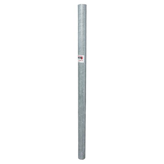 Poteau nu rond galvanisé 2 mètres, Ø 100 mm