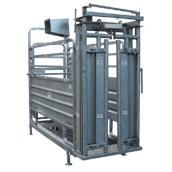 Cage de pesage et de contention avec porte satene