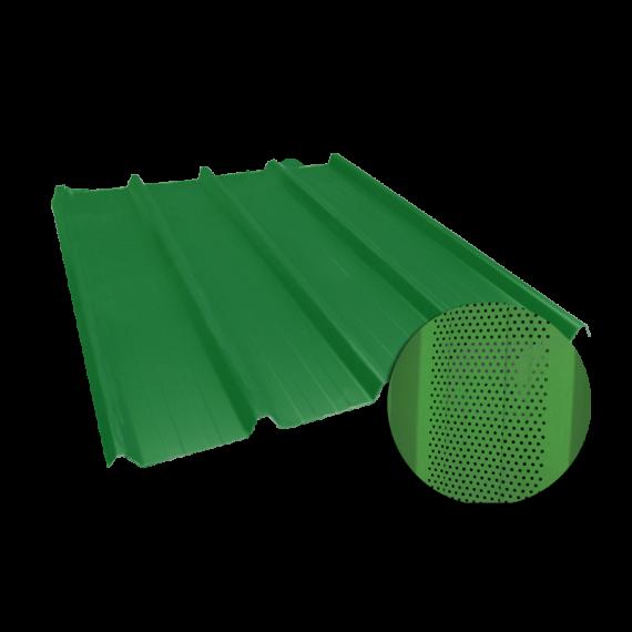 Tôle nervurée 45-333-1000, 60/100e vert reseda perforée - 6,5 m