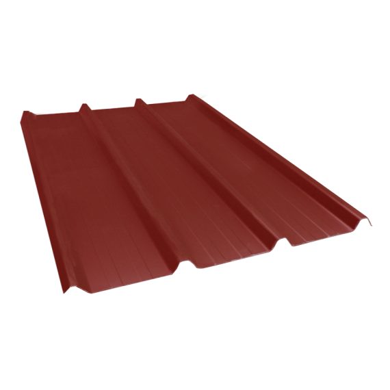 Tôle nervurée 45-333-1000, 70/100e brun rouge - 6 m