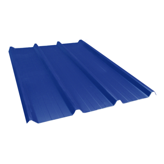 Tôle nervurée 45-333-1000, 70/100e bleu ardoise - 3,5 m