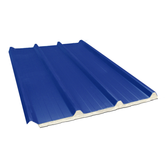 Tôle nervurée 45-333-1000 isolée sandwich 40 mm, bleu ardoise RAL5008, 7,5 m