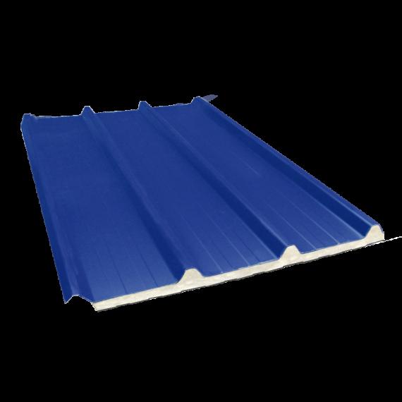 Tôle nervurée 45-333-1000 isolée sandwich 80 mm, bleu ardoise RAL5008, 8 m