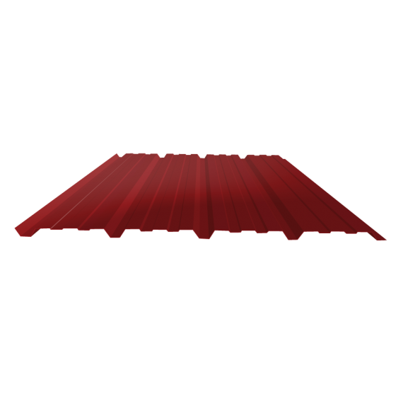 Tôle nervurée 25-267-1070, 60/100e brun rouge bardage - 5 m