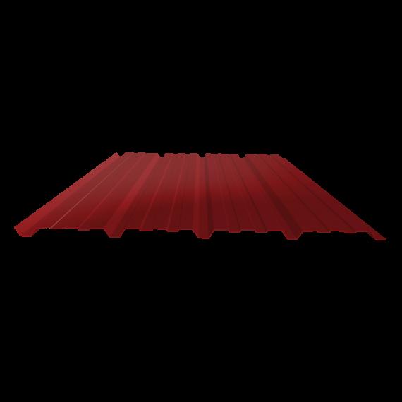Tôle nervurée 25-267-1070, 60/100e brun rouge bardage - 6 m