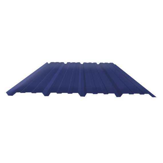 Tôle nervurée 25-267-1070, 70/100e bleu ardoise bardage - 3,5 m
