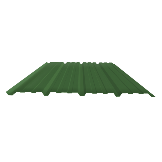 Tôle nervurée 25-267-1070, 70/100e vert reseda bardage - 3 m