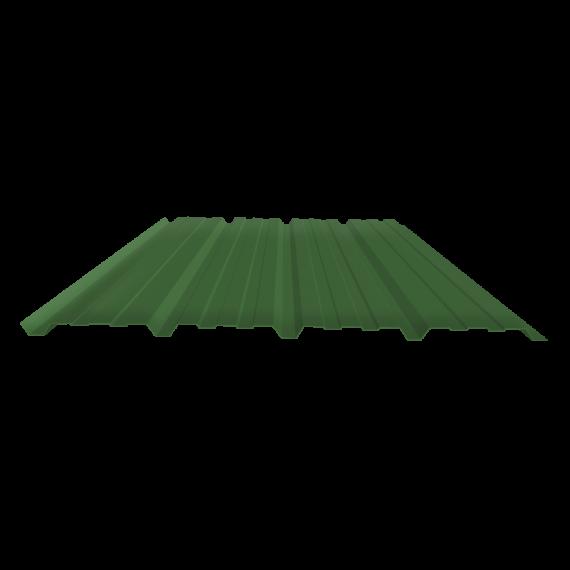 Tôle nervurée 25-267-1070, 70/100e vert reseda bardage - 6,5 m