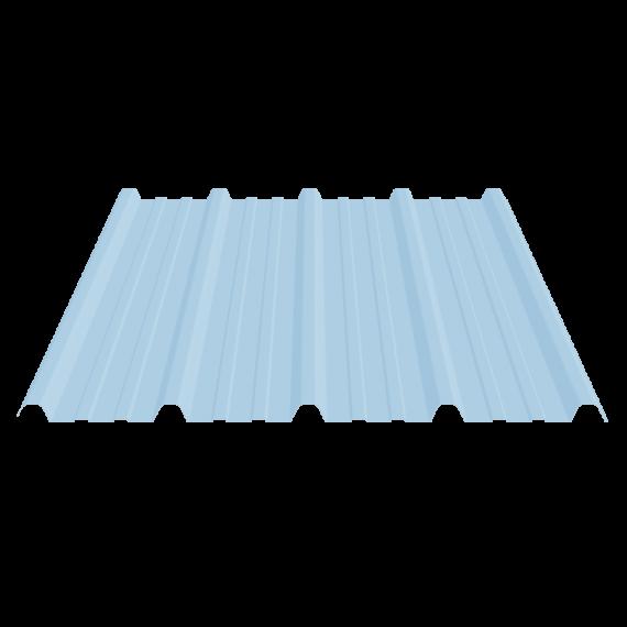 Tôle nervurée 33-250-1000 économique, translucide polycarbonate - 4 m