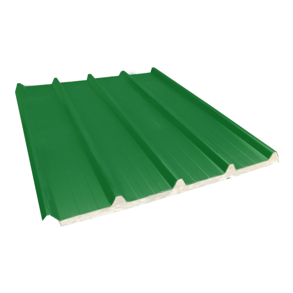Tôle nervurée 33-250-1000 isolée économique 40 mm, vert reseda RAL6011, 7 m