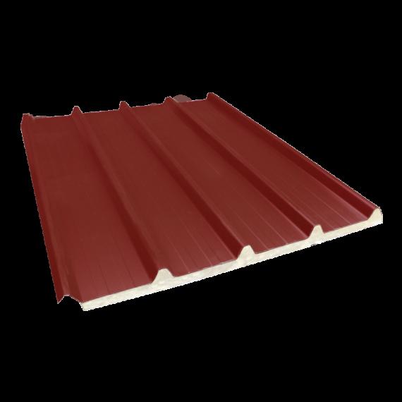 Tôle nervurée 33-250-1000 isolée économique 30 mm, brun rouge RAL8012, 4 m