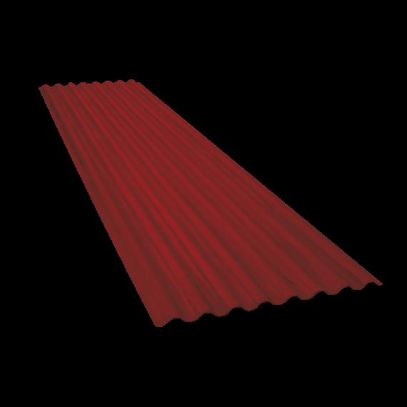 Tôle ondulée 15 ondes brun rouge RAL8012, épaisseur 0,60 - 2 m