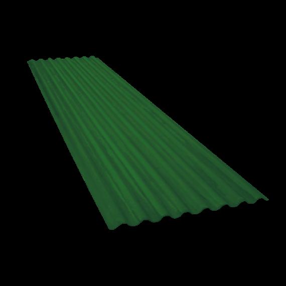 Tôle ondulée 15 ondes vert reseda RAL6011, épaisseur 0,60, 7 m