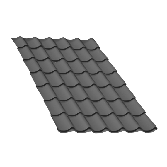 Tôle tuile gris anthracite - 2,5 m