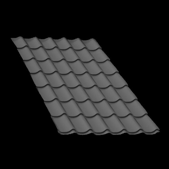 Tôle tuile gris anthracite - 6 m