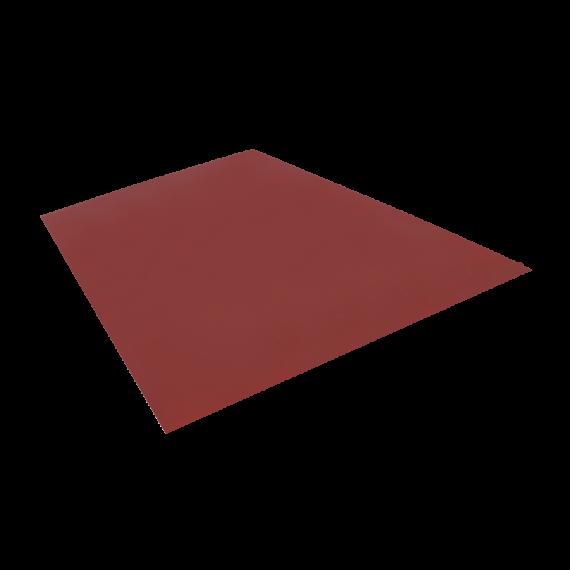 Tôle plane, brun rouge RAL8012, 1,22 x 2 m