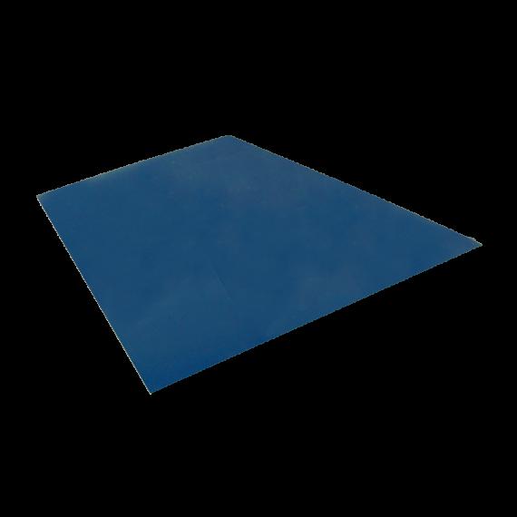 Tôle plane, bleu ardoise RAL5008, 1,22 x 2 m