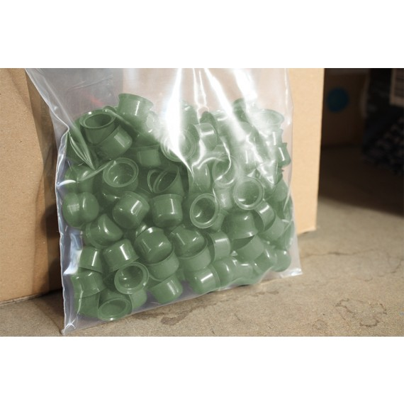 Capuchons Plastiques RAL 6011, 100 Pièces