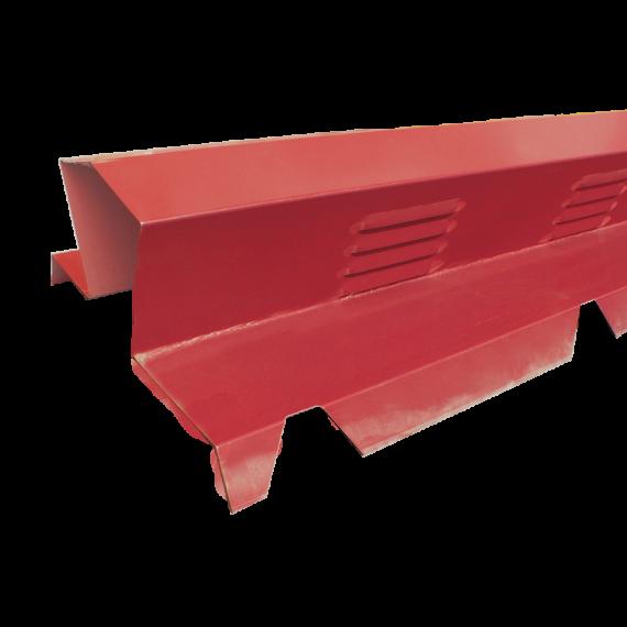 Faitière double crantée ventilée brun rouge RAL8012