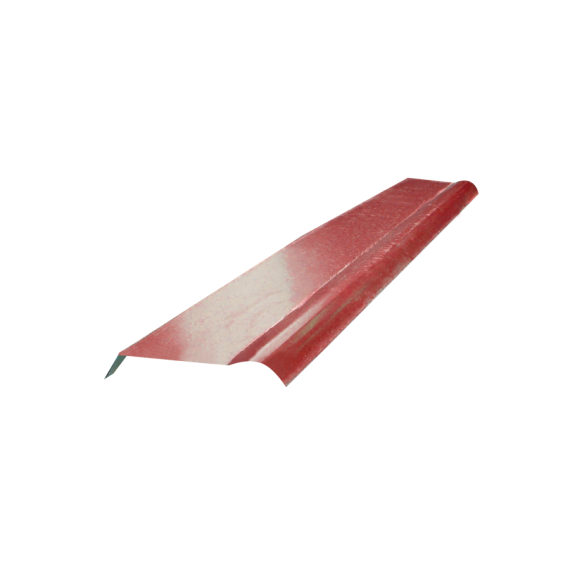Demi-faitière à boudin brun rouge RAL8012