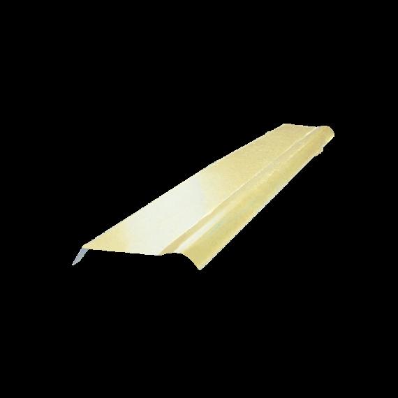Demi-faitière à boudin jaune sable RAL1015