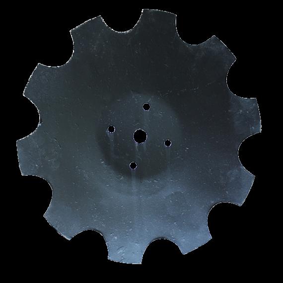Disque de bordure crénelé diamètre 465/5 mm pour déchaumeur à disques Beiser