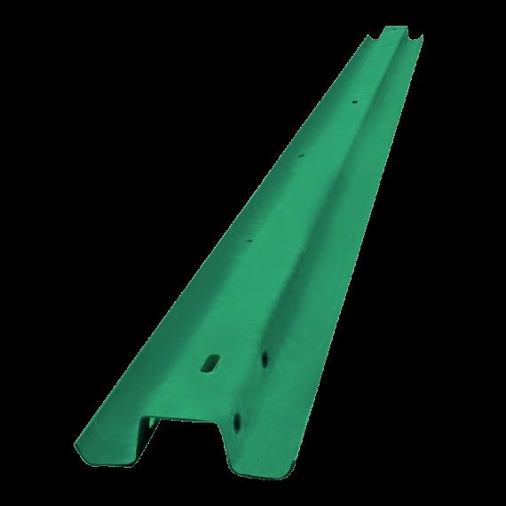 Glissière forestière écologique (peinte en vert)