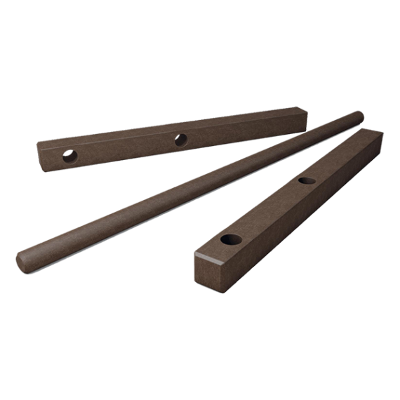 Poteau d'extrémité horizontal marron entourage de pâturage