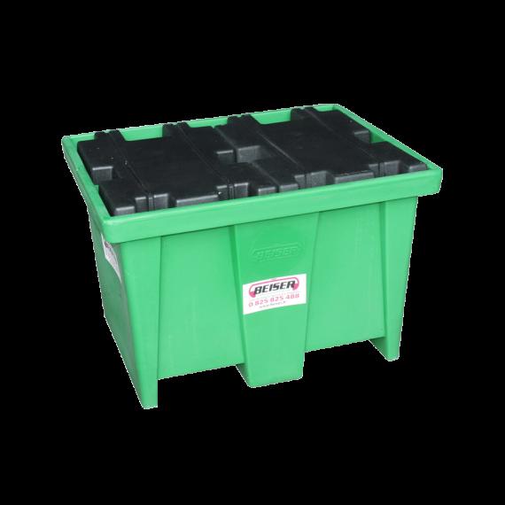 Bac de rétention en plastique PEHD 1 fût - 220 litres