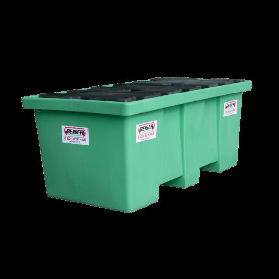 Bac de rétention en plastique PEHD longitudinal 2 fûts - 208 litres