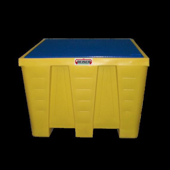 Bac de rétention carré MAXI en plastique PEHD pour cubitainer