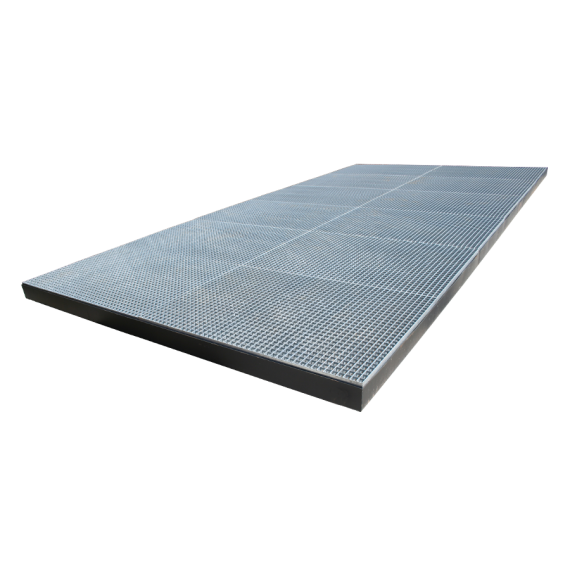 Pulvé bac 3 x 4 x 0.20 m (Lxlxh) - capacité 2400 Litres