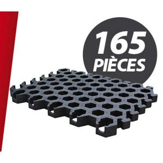 Caillebotis PVC pour niche à veaux Igloo + parc (165 pièces)