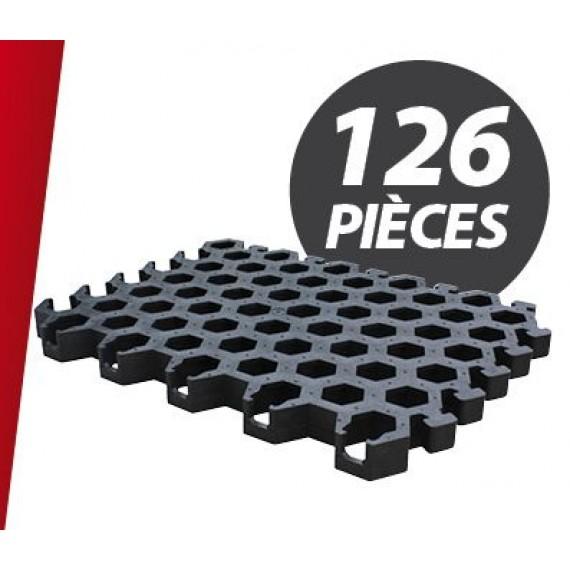 Caillebotis PVC pour niche 12 places + parc (126 pièces)