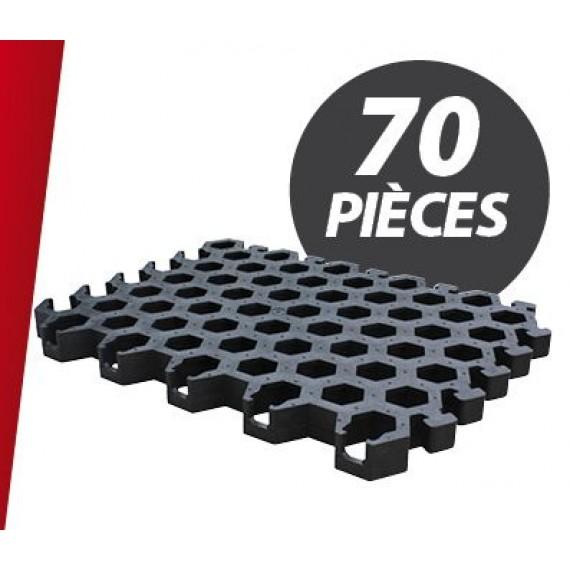 Caillebotis PVC pour niche 5 places + parc (70 pièces)