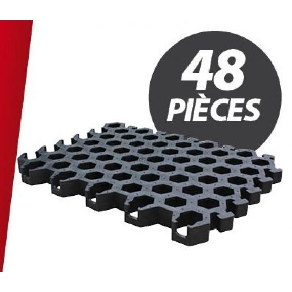 Caillebotis PVC pour niche 3 places + parc (48 pièces)