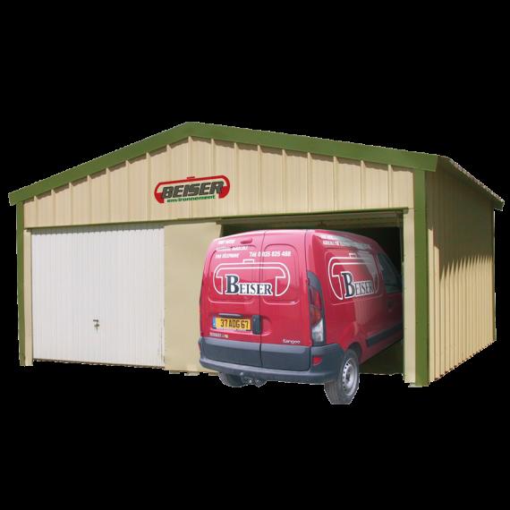 Garage double pan en kit