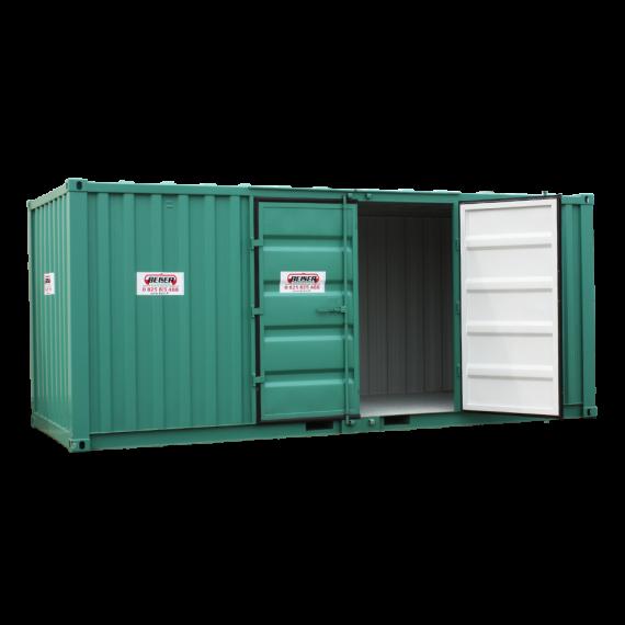 Container de stockage - Modèle LC 20, 32 m3, avec portes latérales