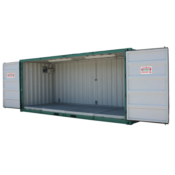 Container de stockage phyto 32m3 ouverture totale sur la for Container isole