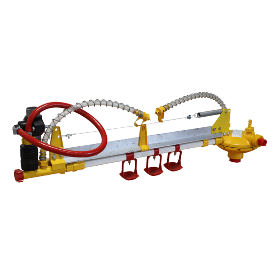 Ligne d'abreuvoir complète avec pipette pour bâtiment poulailler mobile 12 m2